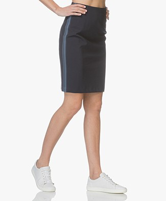 Drykorn Falon Jersey Pencil Skirt - Dark Blue