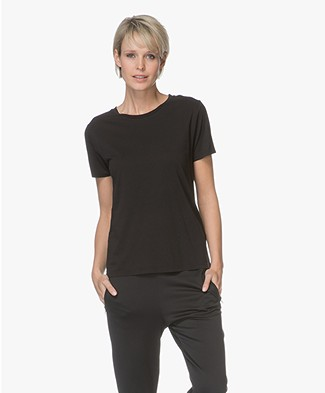 Filippa K Crew Neck T-shirt - Black