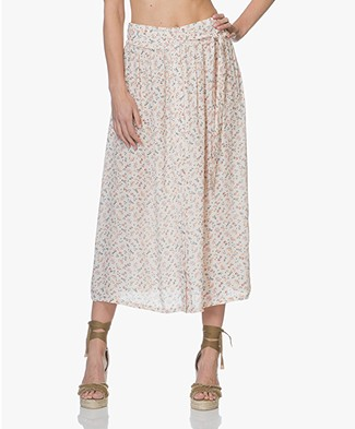 indi & cold Midi Flower Skirt - Marfil