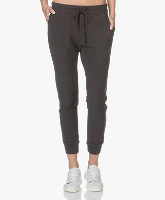 James Perse Knit Twill Surplus Broek - Carbon