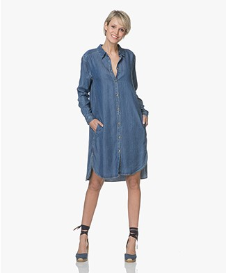 Project AJ117 Hello Tencel Denim Shirt Dress - Indigo