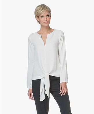 Woman by Earn Emily Blouse met Knoopdetail  - Off-white
