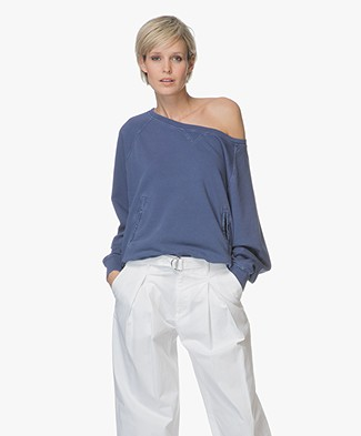 Closed Garment Dyed Katoenmix Sweater - Worker