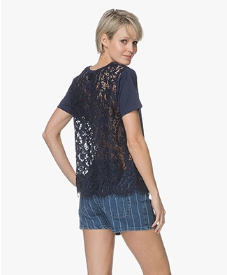 FWSS Trude T-shirt with Lace Back - Dress Blues