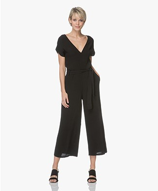 LEÏ 1984 Elia Cropped Leg Jumpsuit - Black