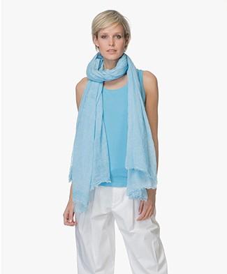 Repeat Katoenen Pigment-Dye Sjaal - Aqua