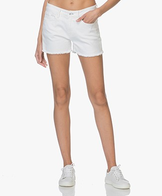 Denham Monroe Denim Shorts - White