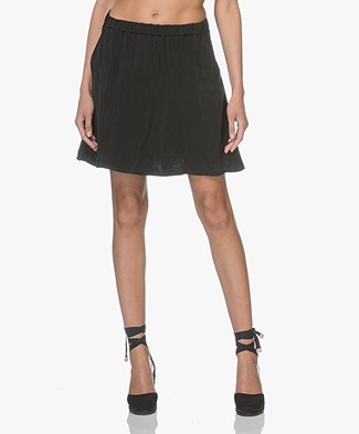 indi & cold A-line Cupro Skirt - Black