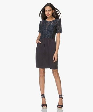 MKT Studio Rilman Lace Dress - Navy