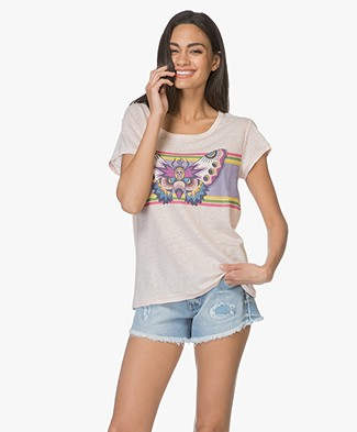 Zadig & Voltaire Meryl Linnen Butterfly T-shirt - Poudre