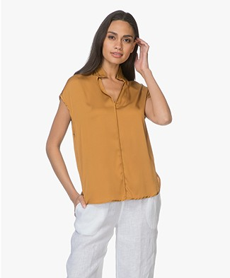 By Malene Birger Fiolana Silk Shirt - Caramel