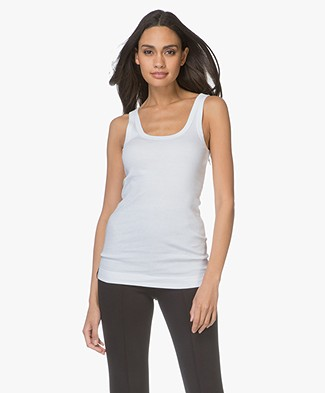 By Malene Birger Ribbed Tank Top Newdawn - White