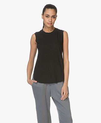 James Perse Easy Muscle Tank - Zwart