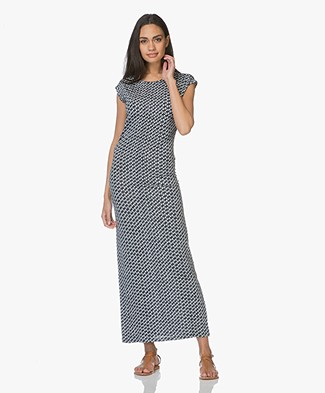 LaSalle Printed Jersey Maxi Dress - Sea