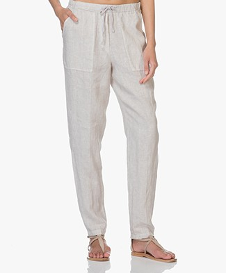 no man's land Linen Pants - Sandstone
