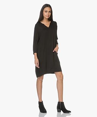 Project AJ117 Tunic Dress Billie in Viscose - Black