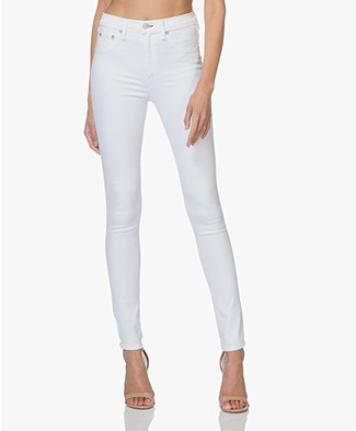 Rag & Bone High Rise Skinny Jeans - Wit