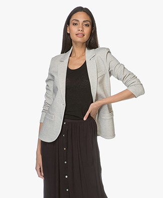 Repeat Tailored Blazer in Cotton Blend - Mini Dot Black