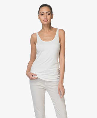 Repeat Viscose Jersey Top - Cream