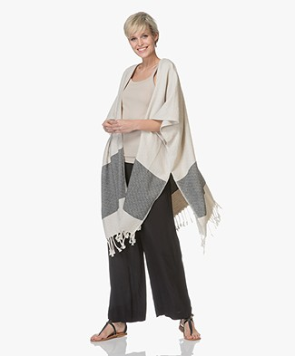 Bon Bini Nikiboko Kimono Ponchovest - Natural