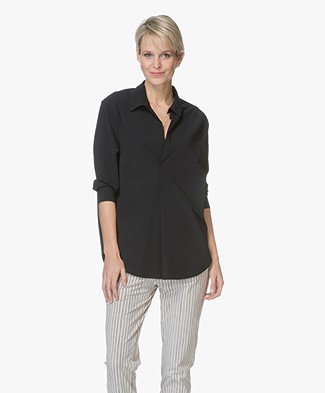 JapanTKY Azu Travel Jersey Blouse - Black