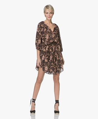 Magali Pascal Edith Viscose Printed Dress - Black Valence