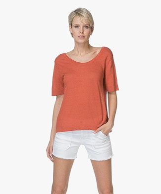 American Vintage Flaxcity Linnen T-shirt - Renard