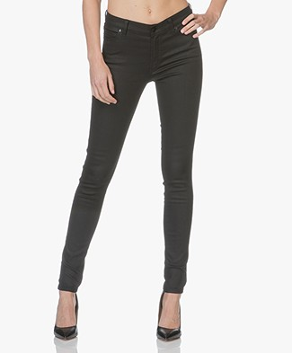 HUGO Georgina Coated-Skinny Pants - Black