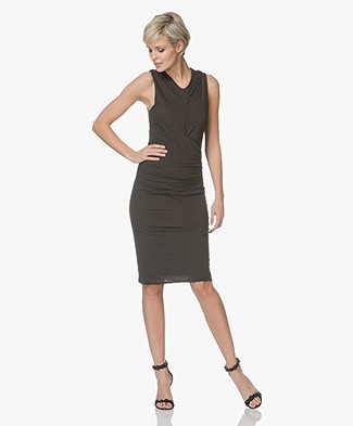 James Perse Side Draped Jersey Jurk - Abyss