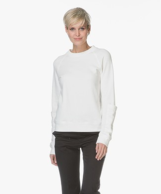 Joseph Molleton French Terry Sweatshirt - Off-white