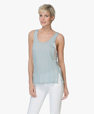 Majestic Filatures Double-layered Linen Jersey Top - Ecume