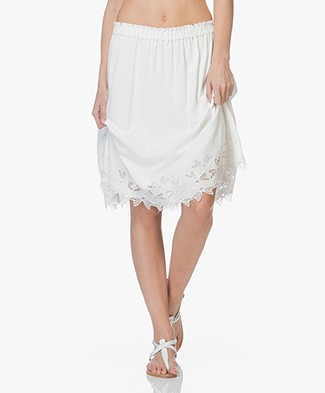 Closed Jasmine Cotton A-line Skirt - Ivory