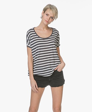 Friday's Project Basic Striped T-Shirt - Washed Black
