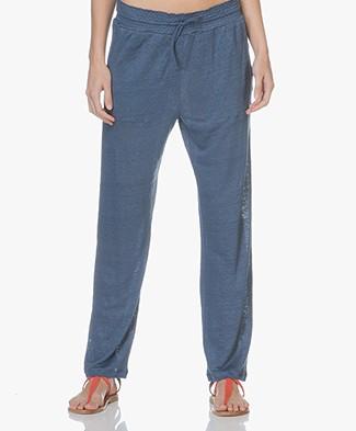 Majestic Filatures Linnen Jersey Broek - Blue Jean