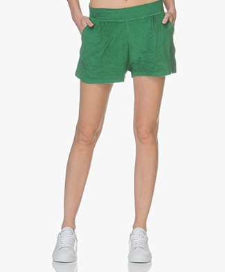 Majestic French Terry Sweat Shorts - Green