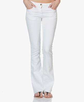 ba&sh Soul Distressed Flared Jeans - White