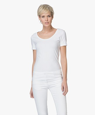 Drykorn Natina Scoopneck T-shirt - White