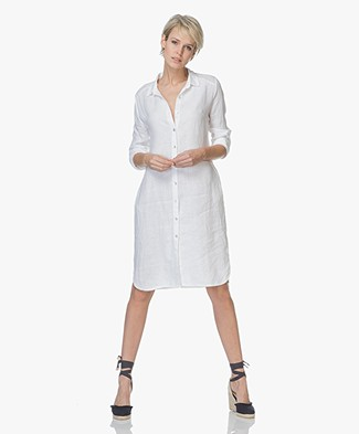 LaSalle Linnen Button-through Dress - White