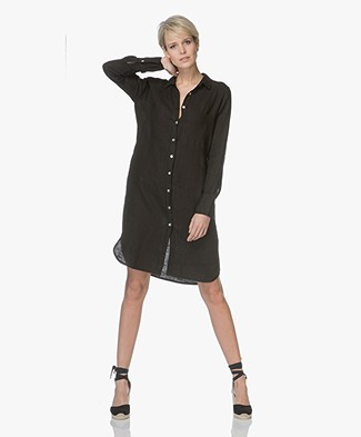 PB X LaSalle Linnen Button-through Dress - Black