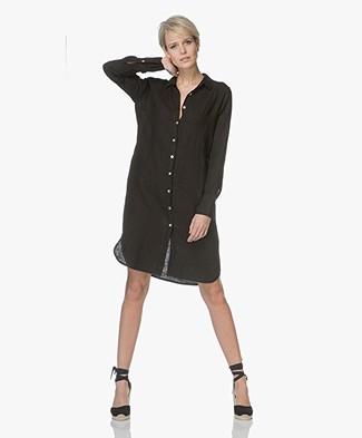 LaSalle Linnen Button-through Dress - Black