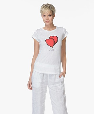 Zadig & Voltaire Skinny Heart T-shirt - Wit