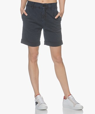 Drykorn Train Lyocell Mix Shorts - Dark Blue