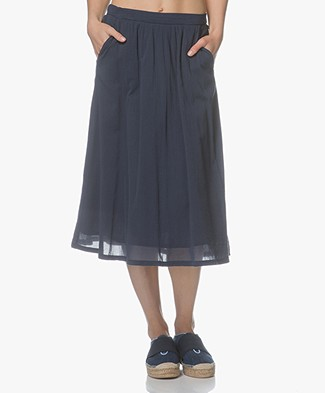 Indi & Cold Cotton A-line Skirt - Marino