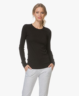 Petit Bateau Crew Neck Long Sleeve - Black