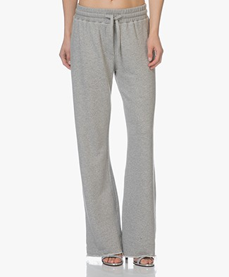 Project AJ117 Adite Plain Wide Leg Sweatpants - Grey