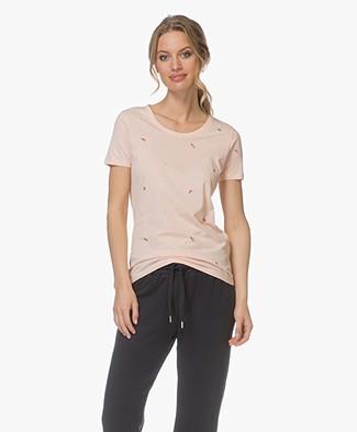 BOSS Teallover Print T-shirt - Pastel Roze