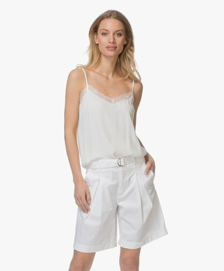 BY-BAR Isa Crepe Lace Camisole - Off-white