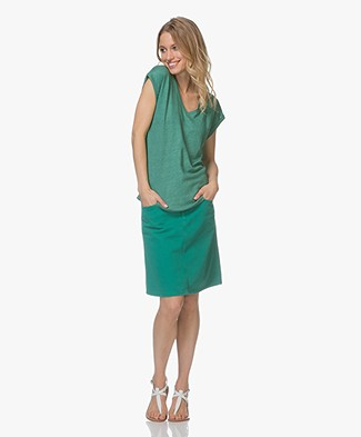 BY-BAR Joanna Linen T-shirt - Emerald