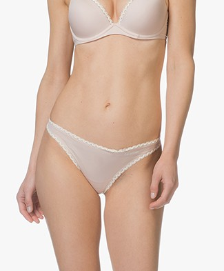 Calvin Klein Seductive Comfort Thong - Sheer Blush