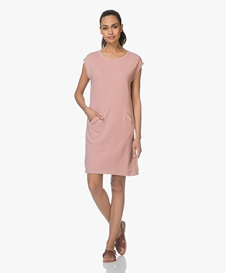 BY-BAR Rose Cap Sleeve Sweat Dress - Ash Rose